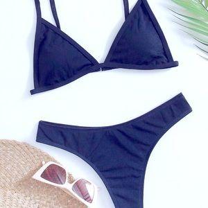 SOLD NEW👙 Navy Blue Triangle Bikini by Shein